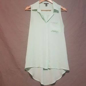 Forever 21 sleeveless button up blouse